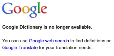 Google Dictionary Offline
